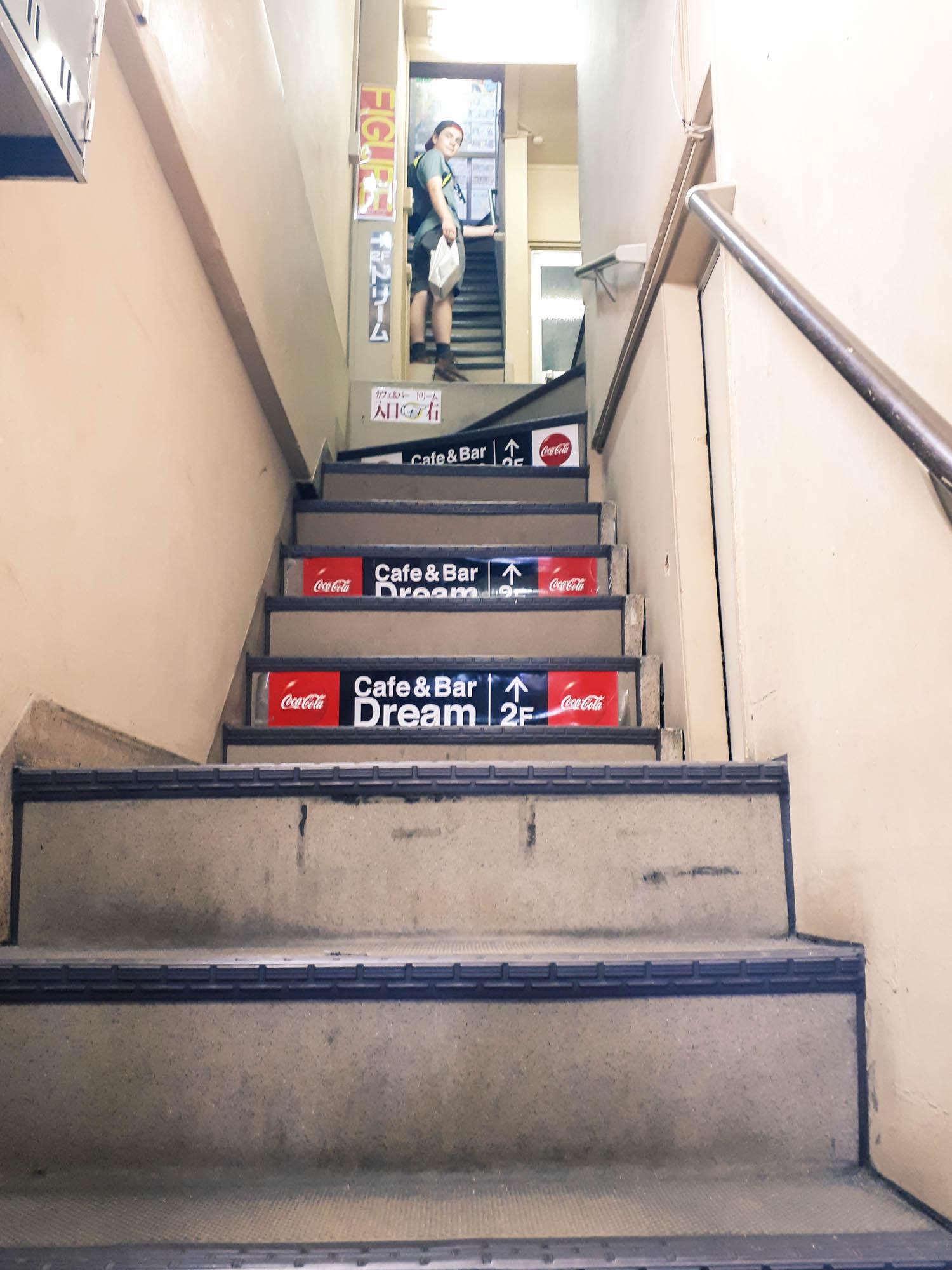 le 2e pallier d'escaliers