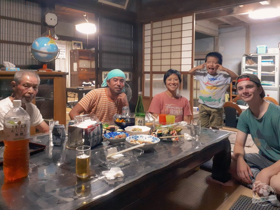 Doux moment dans une famille japonaise grâce au Wwoofing