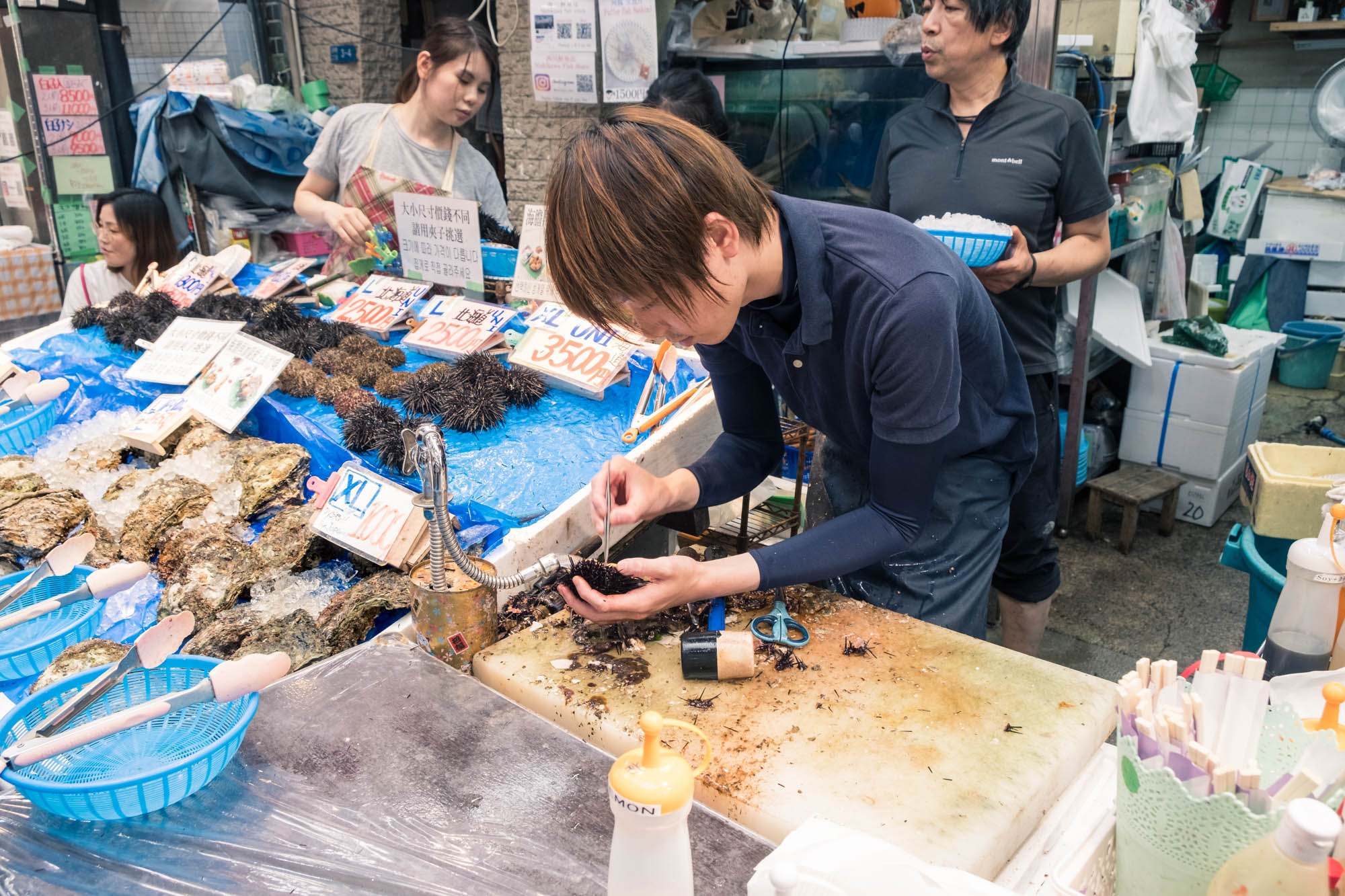 Le marchand d'huitres à Osaka