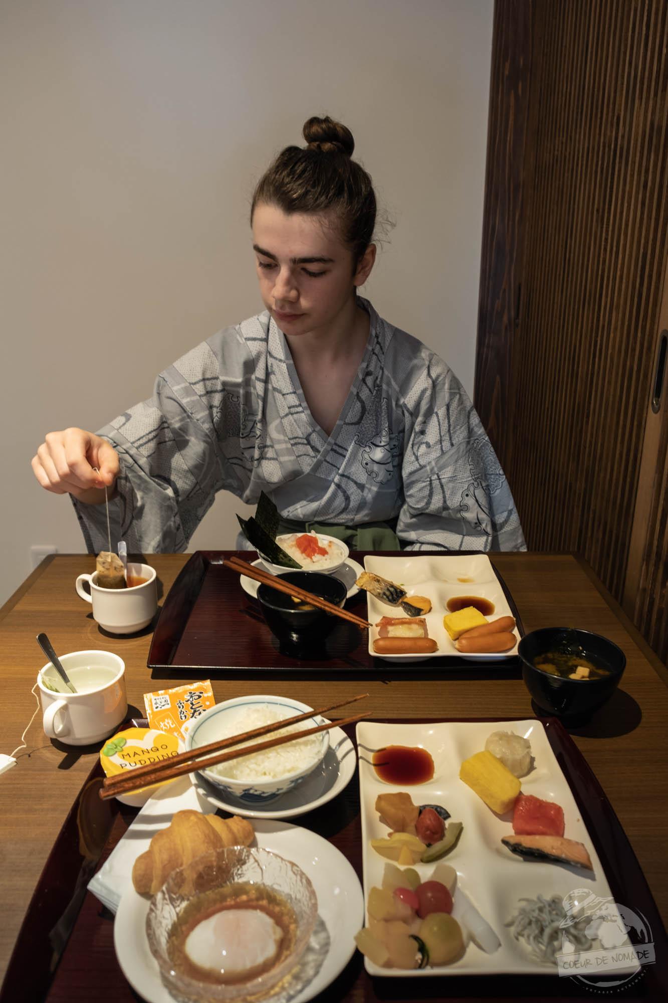 déjeuner dans un ryokan à Minakami