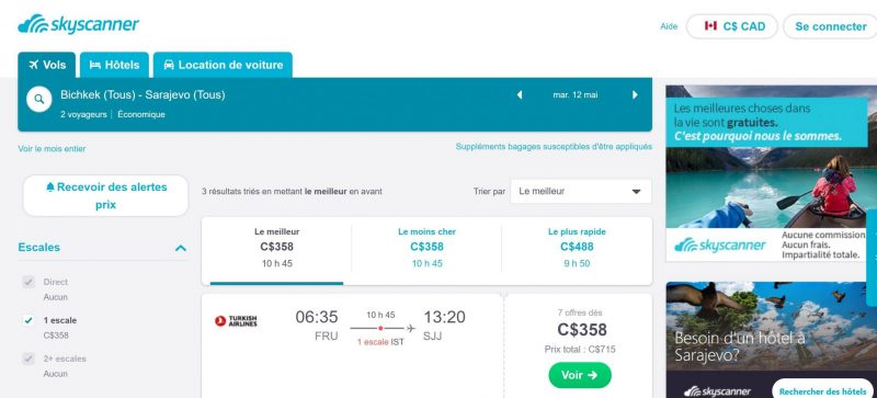 Page Skyscanner
