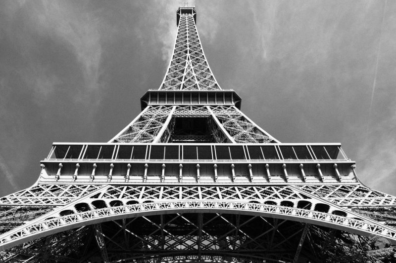 Tour Eiffel noir et blanc