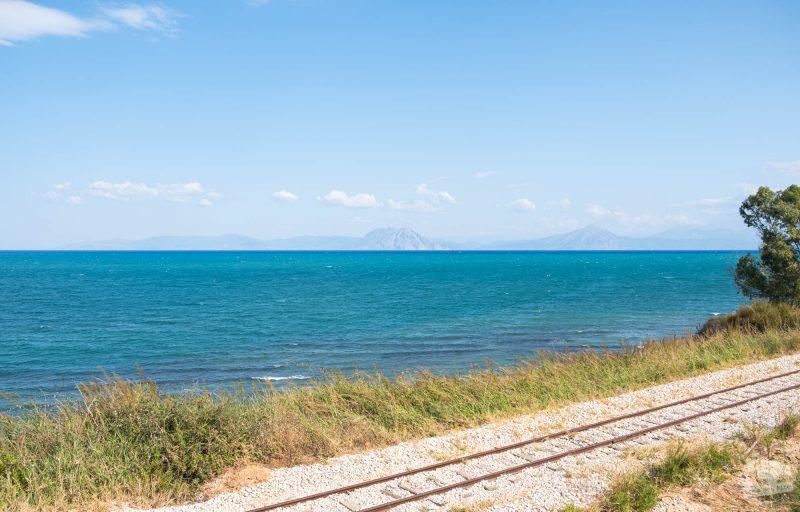Sur la route côte nord de la Peloponnèse