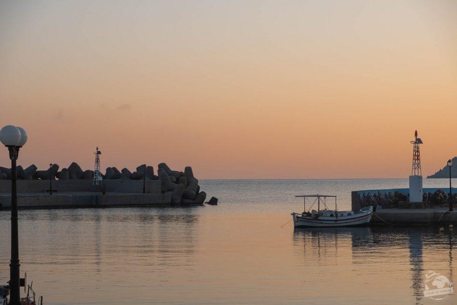 un soleil qui se lève sur Crète, Milatos beach
