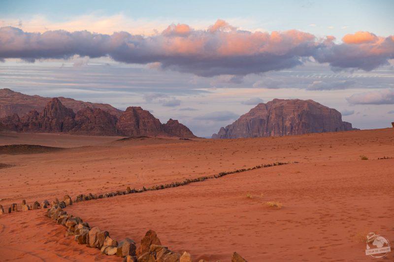sunset in wadi rum jordan
