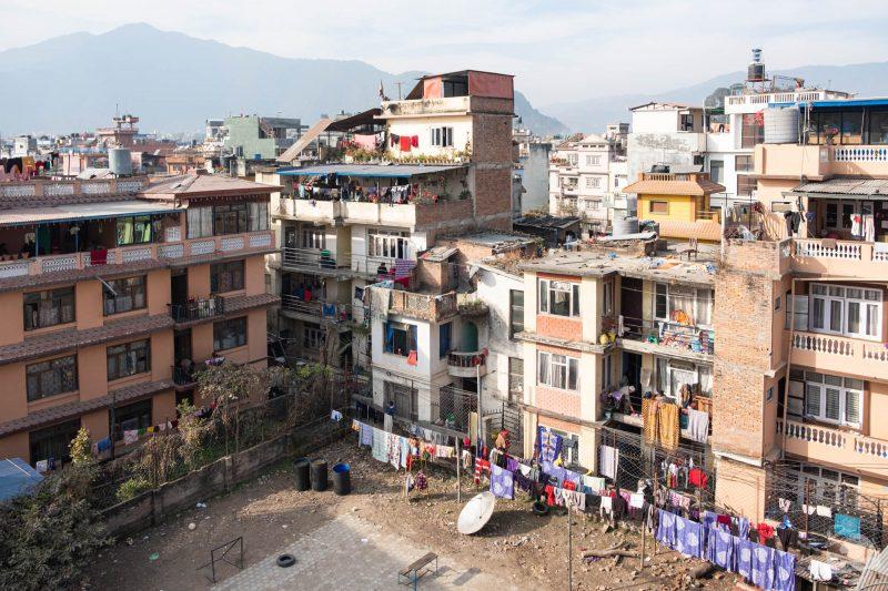 De mon balcon à Katmandou