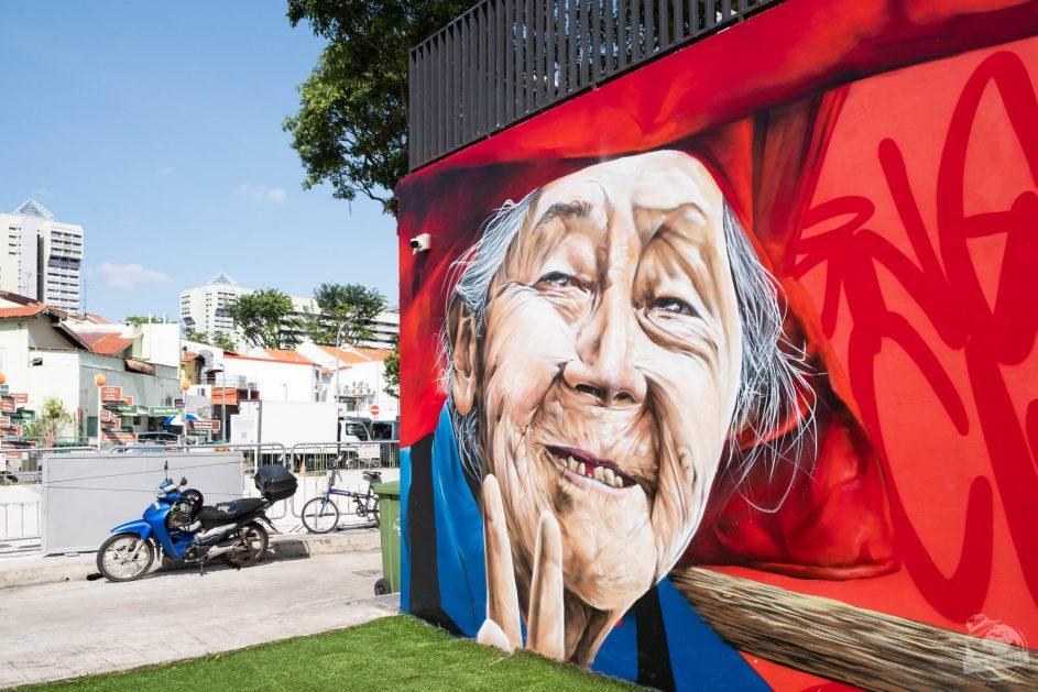 Street art - Little India - Singapour